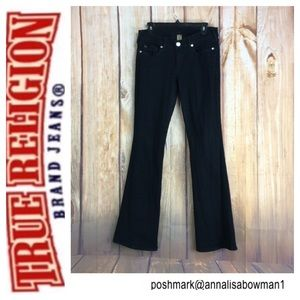 🐞True Religion JOEY Black Flare Leg jean size 30